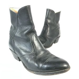 Boulet western leather ankle boots